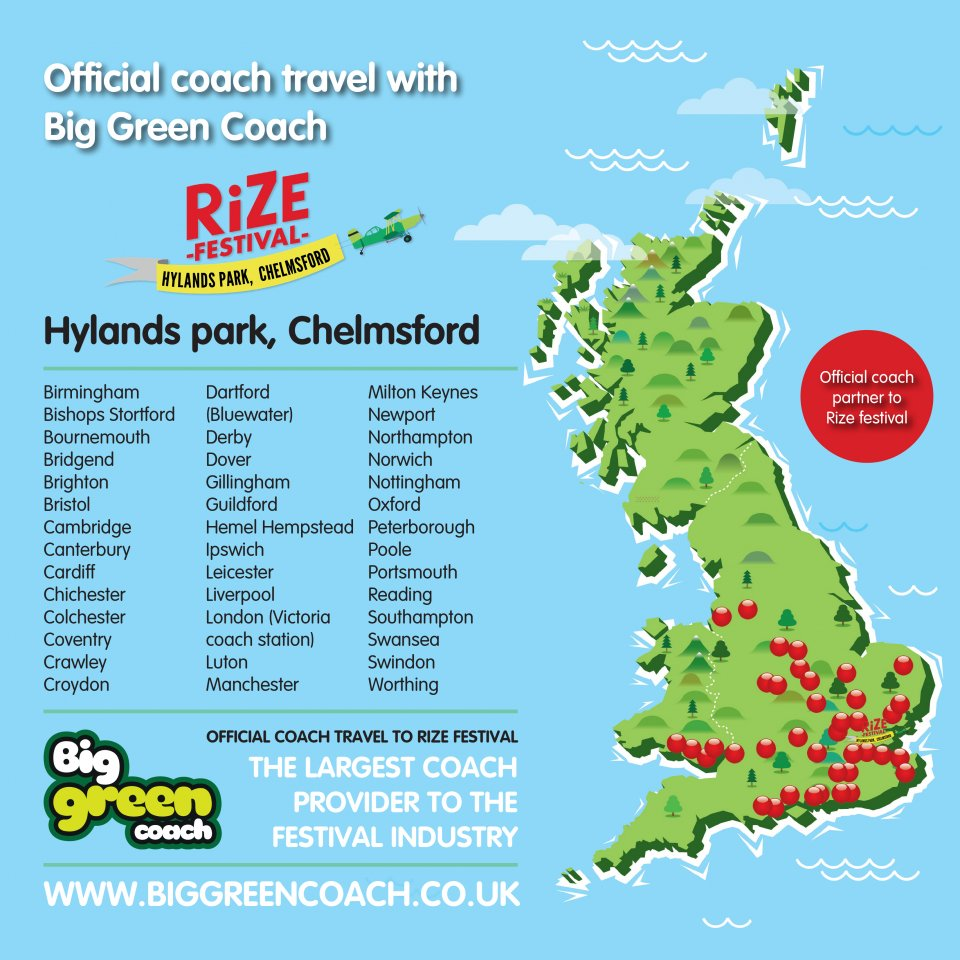 big green coach map